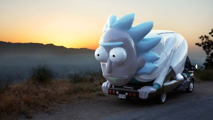 """It's a truck! It's a store! It's the world's biggest Rick! Adult Swim is hitting the road in """"the Rickmobile,"""" a vehicle that will be hauling exclusive Rick and Morty merchandise under its lab coat. http://io9.gizmodo.com/rick-and-mortys-rick-is-a-truck-now-1794956360?utm_source=gizmodo_newsletter&utm_medium=email&utm_campaign=2017-05-05"""