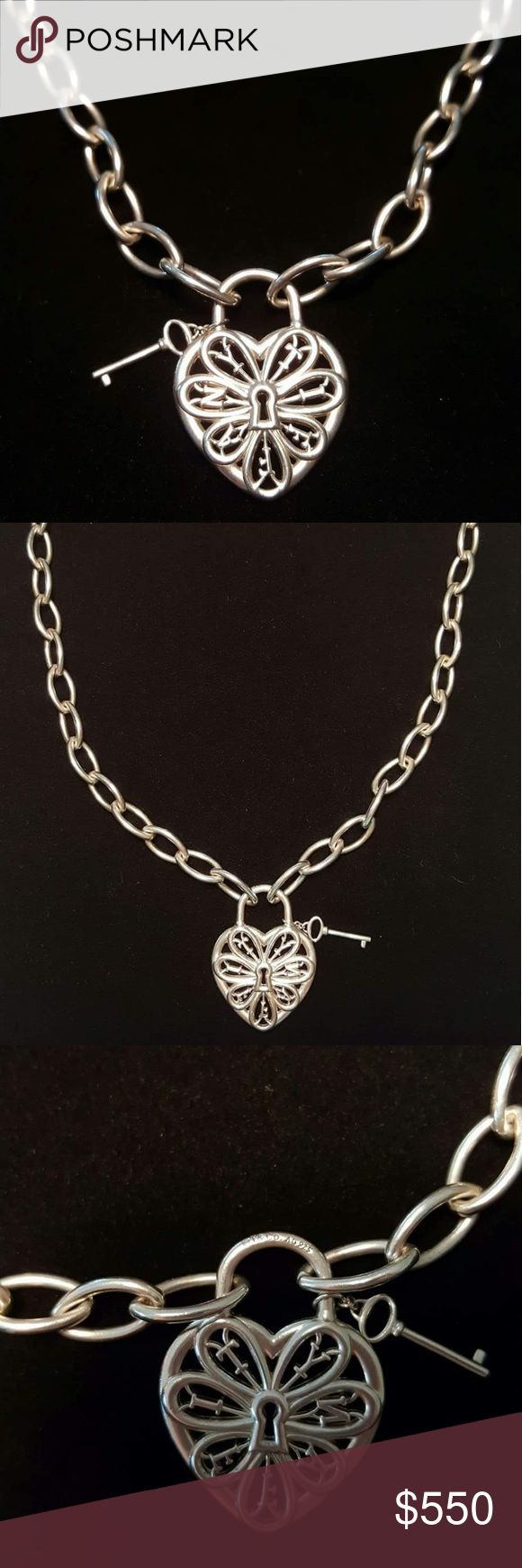 Tiffany & Co. Filigree Heart Necklace Immaculate,  showcase condition Tiffany & Co. Filigree Heart Necklace. Retired and no longer available.. Excellent price for this piece! Comes with box and pouch. Tiffany & Co. Jewelry