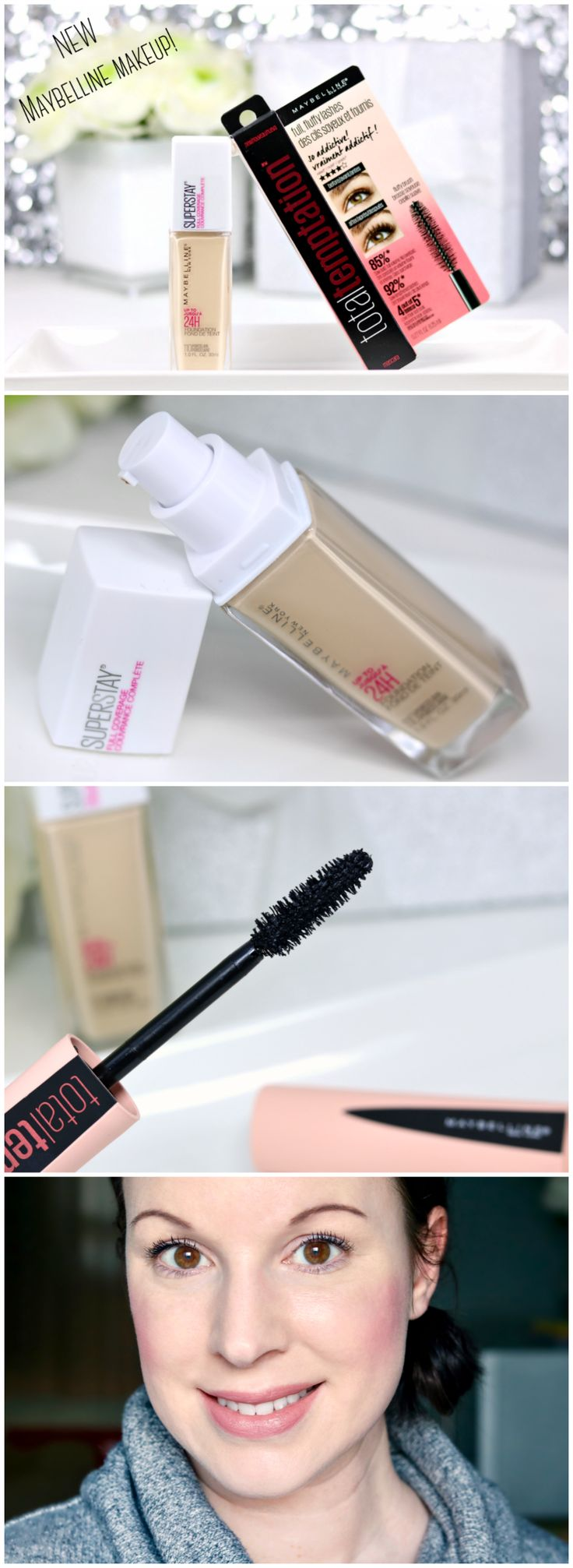 Maybelline Super Stay Foundation and Total Temptation Mascara Review