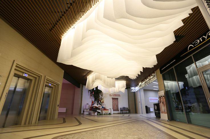 Декоративный потолок из негорючей бумаги. Автор проекта Ирина Курик.
