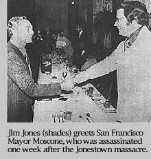 Jim Jones George Moscone assassination jonestown