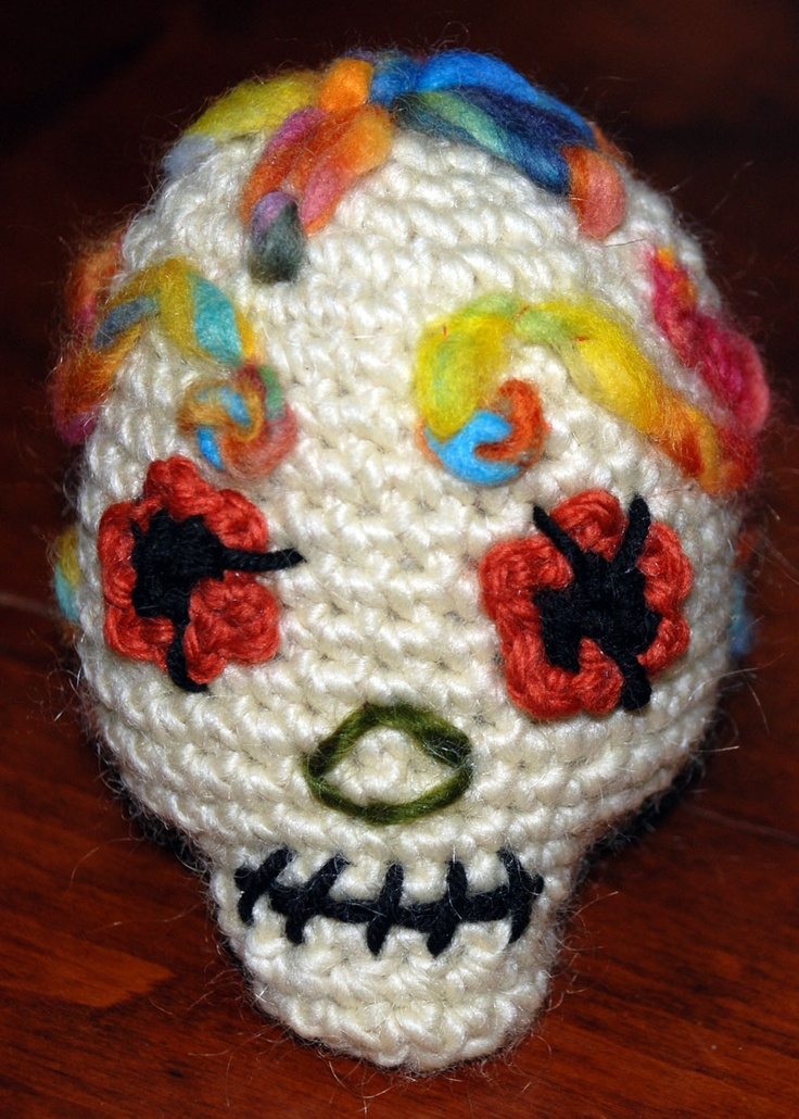 Crocheted Sugar Skull | My growing crochet addiction ...