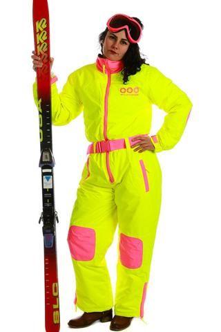 Crucible Cornea Combustor Neon Yellow Onesie Ski Suit: Gals - Shinesty - 1