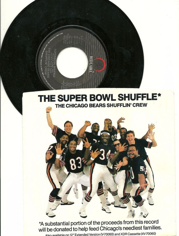 1985 Chicago Bears Superbowl XX Shuffle record w/ sleeve + 1986 Schedule
