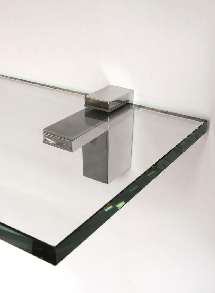 Frost Quadra plankklem die verstelbaar is. Ook verkrijgbaar in RVS, zwart en wit.