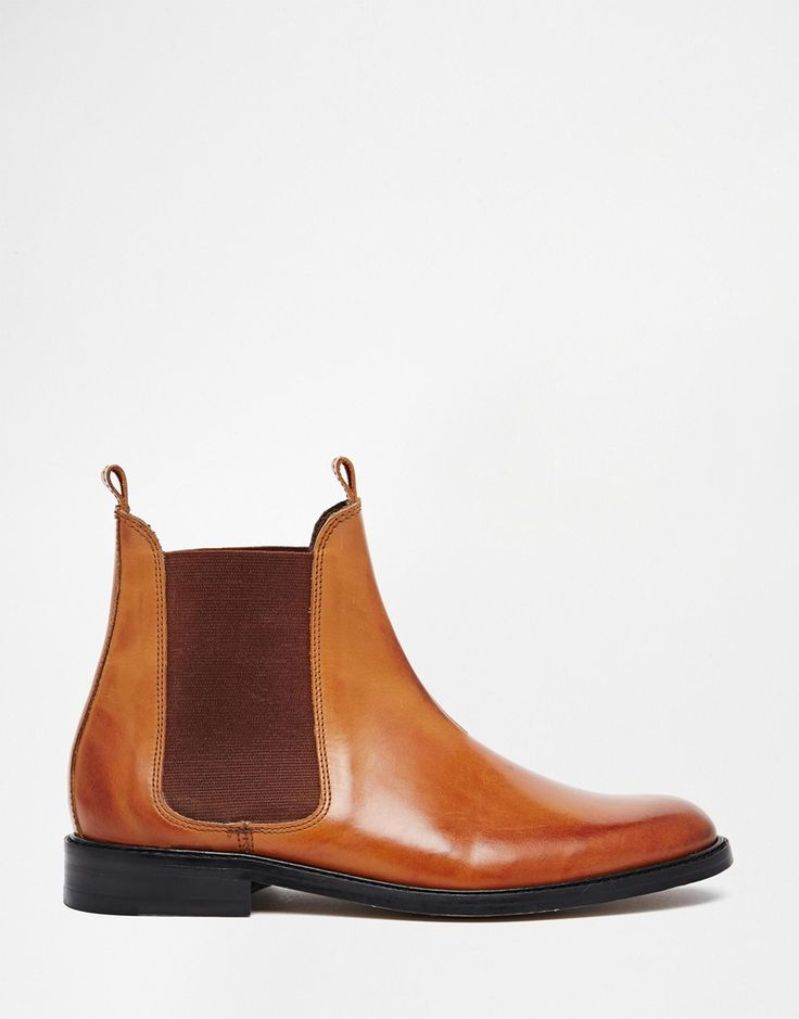 H+by+Hudson+Sophie+Tan+Leather+Chelsea+Ankle+Boots