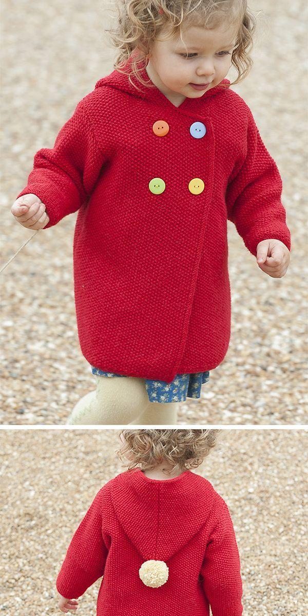 Free Knitting Pattern for Plumpton Coat - Hooded cardigan ...