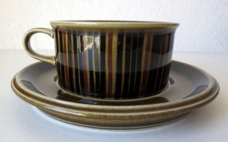 ARABIA OF FINLAND Gunvor Olin-Grönqvist Vintage Kosmos Tea Cup & Saucer   #ArabiaofFinland