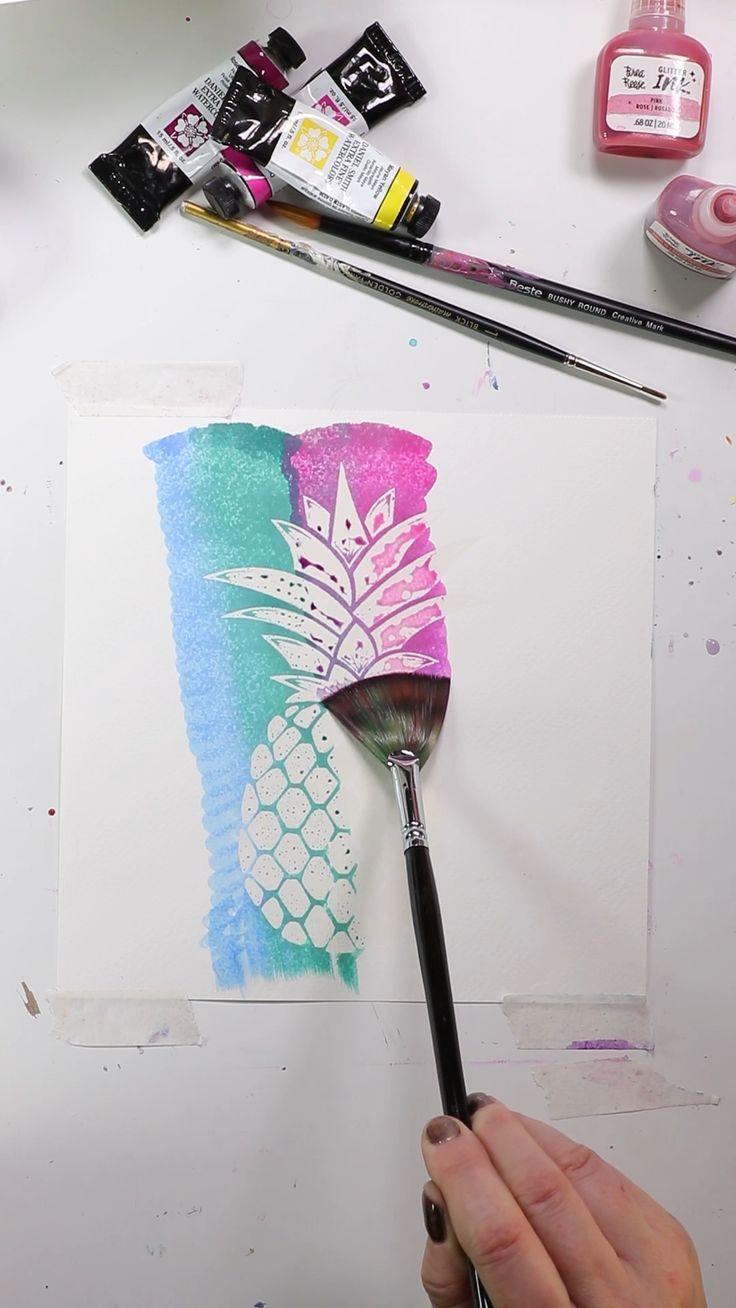 Aquarell Widerstehen Malerei Zeichnungen Coole Kunstprojekte