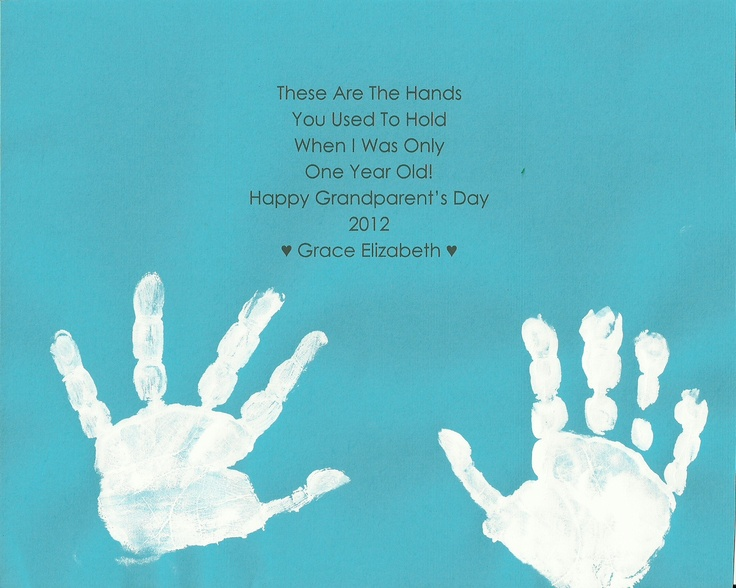 Valentines Day Quotes For Grandparents: Grandparent's Day Poem & Hand Prints