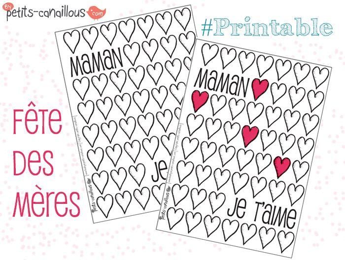 Petits canaillous | Des cœurs à colorier pour la fête des mères | http://www.petits-canaillous.fr