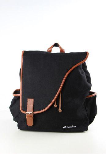 Corvus Black Rucksack - FREE RAINCOVER - unisex - waterproof - laptop sleeve - ransel - tas punggung