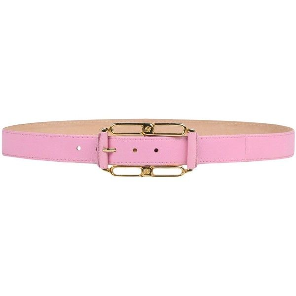 Blumarine Belt (485 BRL) ❤ liked on Polyvore featuring accessories, belts, pink, leather buckle belt, blumarine, pink belt, leather belt and pink leather belt