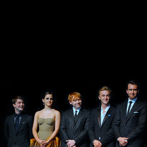 Daniel Radcliffe, Emma Watson, Rupert Grint, Tom Felton and Matthew Lewis at Harry Potter and the Deathly Hallows - Part 2: NY Premiere.