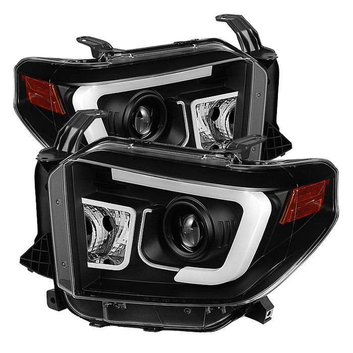 ( Spyder ) Toyota Tundra 2014-2016 Projector Headlights - Light Bar DRL - Black