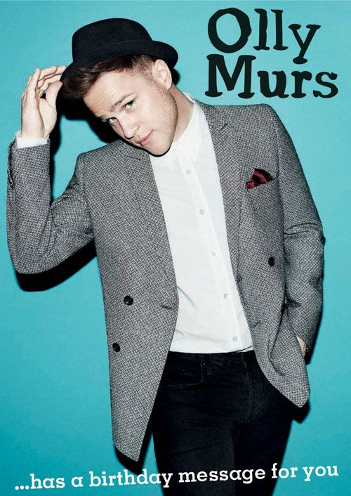 Spend your birthday with Cheekie Chappie Olly Murs with this Official Sound Card. Featuring recorded message from Olly himself available at Danilo.com http://bit.ly/OllyMursBirthdayCard