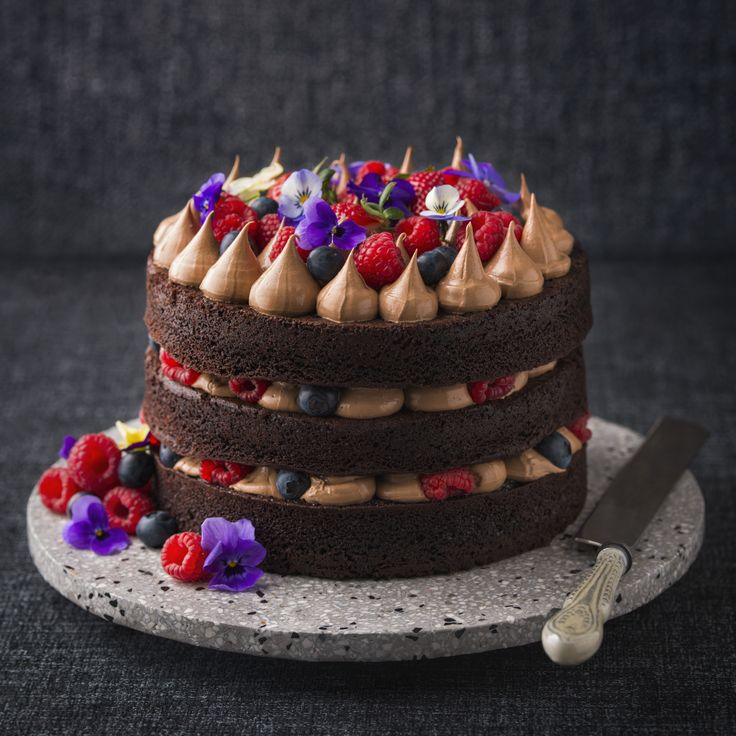 Haigh's Celebration Chocolate Mousse Cake - create this showstopper cake filled with delicious Chocolate & Orange Buttercream Mousse made with Haigh's Dessert Block.