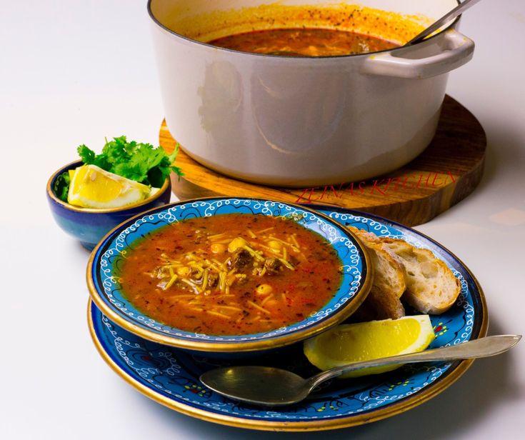 Libysk soppa med kött och kikärtor - ZEINAS KITCHEN