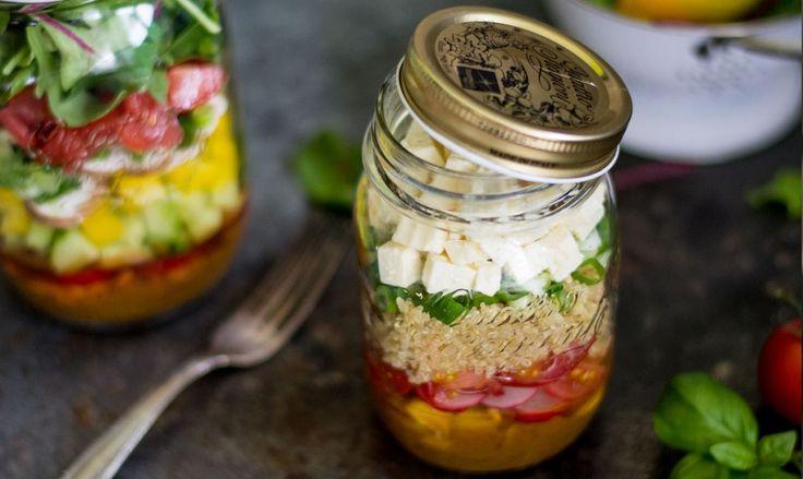Salat im Glas / Salad in a jar on http://www.einkochzeit.de/blog