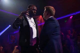 Usain Bolt Absolutely Destroys James Corden In A Rap Battle - http://viralfeels.com/usain-bolt-absolutely-destroys-james-corden-in-a-rap-battle/