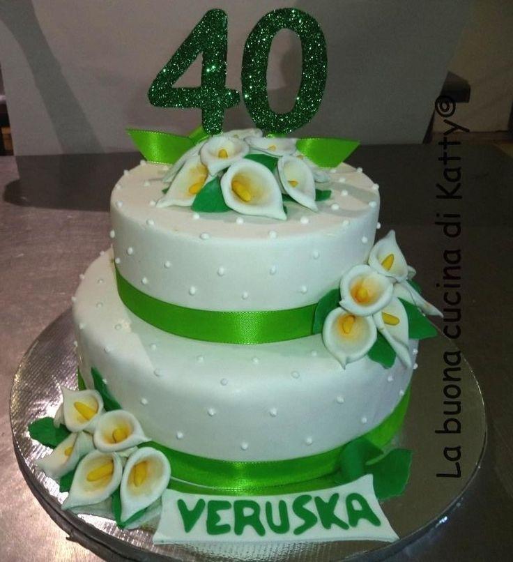 Katty's cakes - Le torte di Katty : Wedding cake for 40th . Torta calle bianche per un 40°