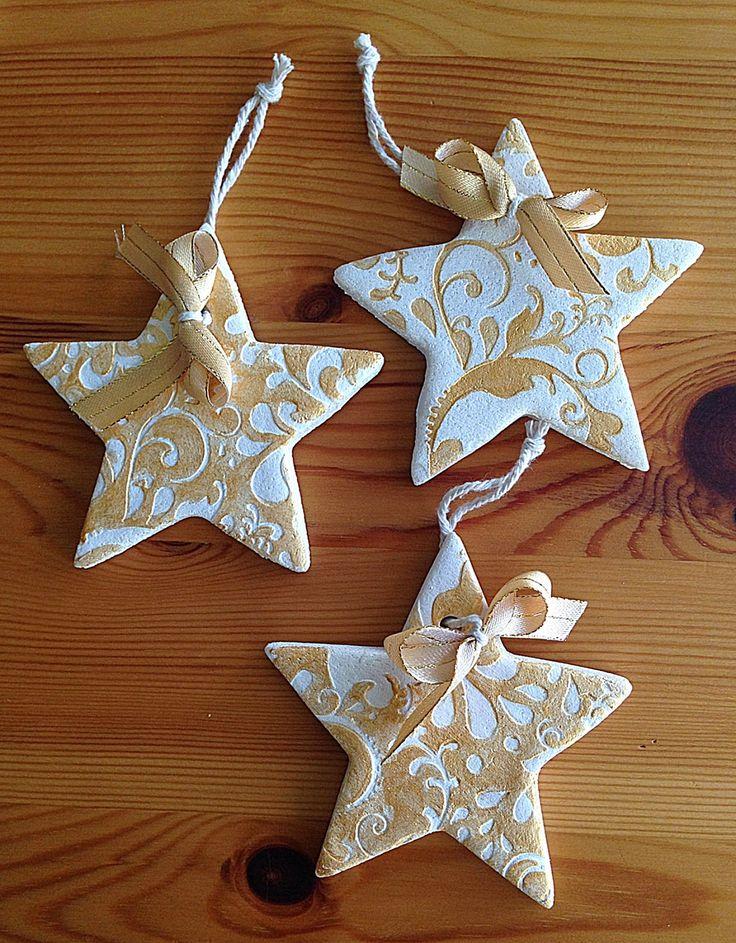 otwarta szuflada: przepis na serduszka i gwiazdki z masy solnej na święta