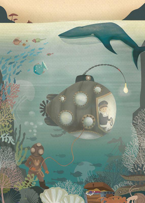 La Machine Aquatique de Gaëlle de Crozé, L'Affiche Moderne