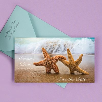 Cute destination wedding save the dates