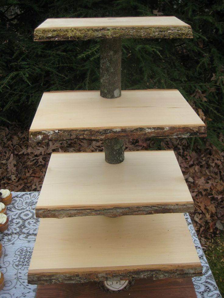 Rustic+Cupcake+Stand+Log+Slices+5+Tier+X+Large+by+YourDivineAffair,+$159.95