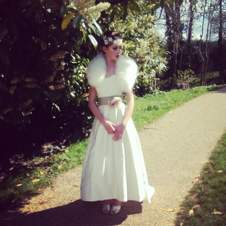 Gatsby bride. Stephanie Allin Frankie. Fur by Blanche in the Brambles - Carmen. Headdress Hermione Harbutt - Florrie.
