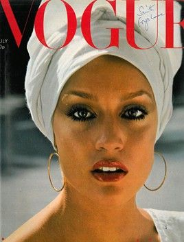 July 1975  Editor : Beatrix  Miller   Cover : Norman  Parkinson                Model : Jerry  Hall