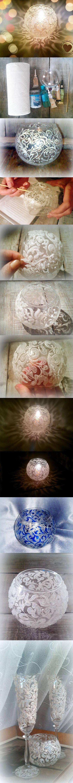 DIY Frosty Pattern Vase