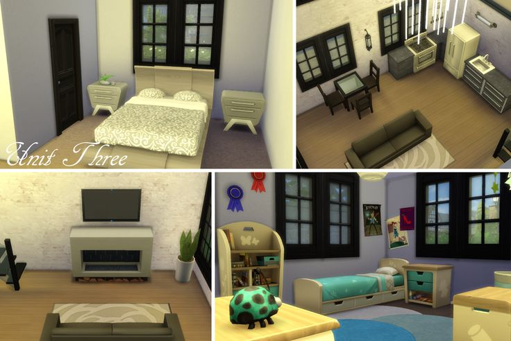 My Sims 4 lot build: Windenburg Apartments (pic of Unit 3) by LiseHaidee Download it from the gallery and enjoy!