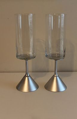 diy dollar store vases.. Sorta cool! Maybe not silver tho.