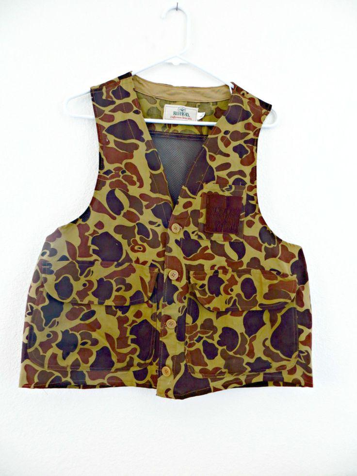 Vintage Redhead Bird Hunting Vest Mesh Back Shell Pocket by FabulousFunFashion on Etsy