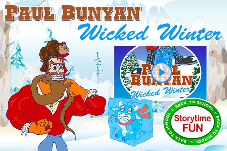 "Paul Bunyan in ""Wicked Winter"" - Video story for Tall Tales studies http://animatedtalltales.com/webisodes/322-paul-bunyan-in-wicked-winter"