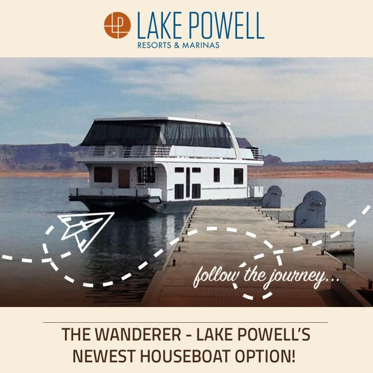 The Wanderer is the newest addition to the Lake Powell fleet, and you will love it! With its monohull design, this 59-foot houseboat is a full two feet wider than our other 59-footers, which translates to lots more room inside. It's big-the Wanderer features four full-height staterooms with doors and sleeps 12-yet it's also family-affordable.