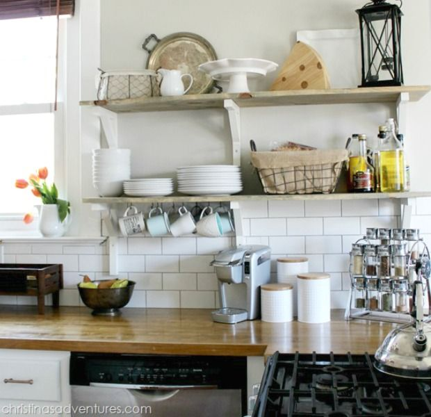 7 Reasons To Try Open Shelving In The Kitchen Kitchen Open