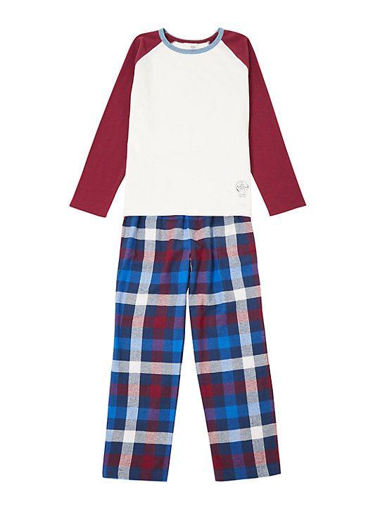 John Lewis   Partners Boys  Check Print Pyjamas 34d1dbfcc