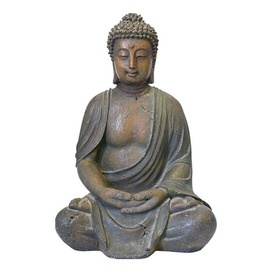A Buddha statue brings serenity and peace to your living room