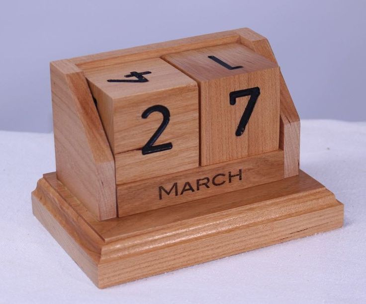 My son came to me with a photo that he found online of a desk calendar made out of wooden blocks. It was originally from pinterest or some similar website. I took that idea, tweaked the design and built this for him out of solid cherry. It is really a quick and easy DIY project. You could probably knock one out in an afternoon if you tried. It doesn't take much wood. There are all kinds of way you could build one. (I found one online that seemed to be mostly made of cardboard.)