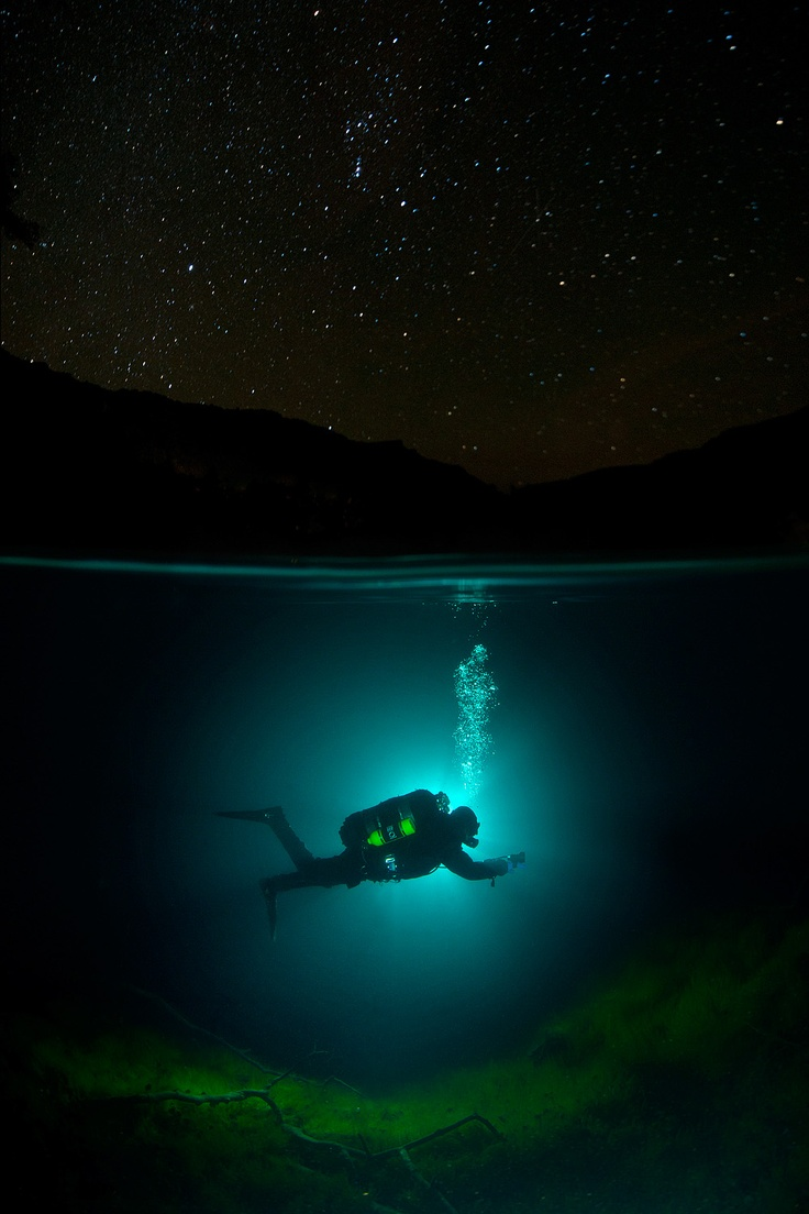 Scuba Diving at Night – Viktor Lyagushkin: Bucket List, Under The Stars, Underwater, Scuba Diving, Night Diving, Place, Photography