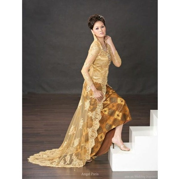 Impressing Chic Lace Wedding Dresses with Traditional Kebaya Style via Polyvore