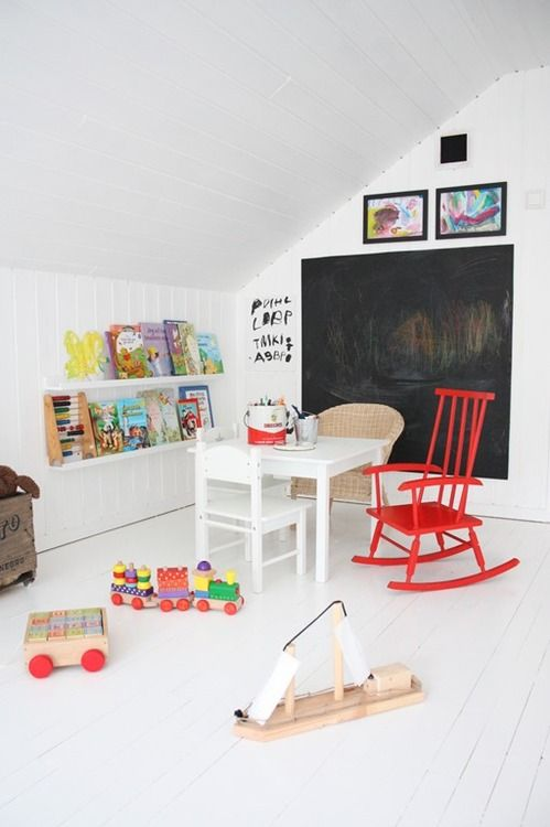 White walls - chalkboard paint
