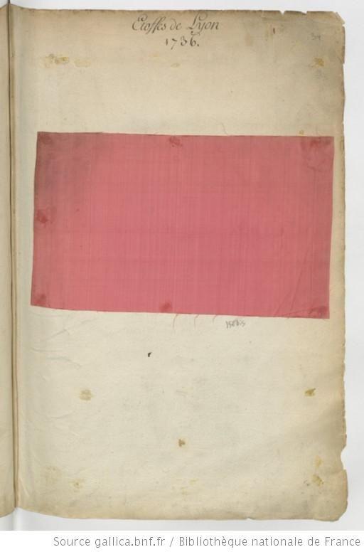 Etoffes de Lyon // 1736 : [échantillons de tissus] - 6
