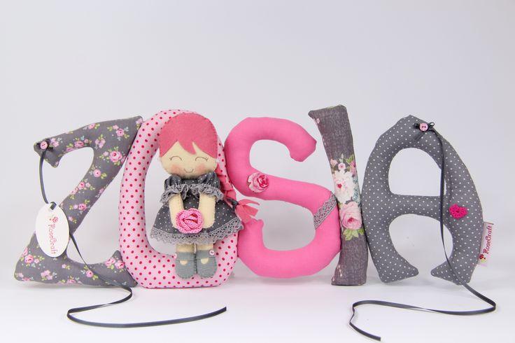 Szyte literki Cute letters