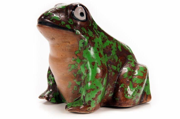 Weller Pottery Coppertone circa 1920s – Vintage Frog Sculpture – 4″W – ID# 2157 – $800.00 (FL) #antiques #sculptures