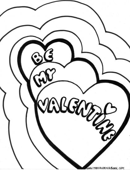 valentines day coloring images