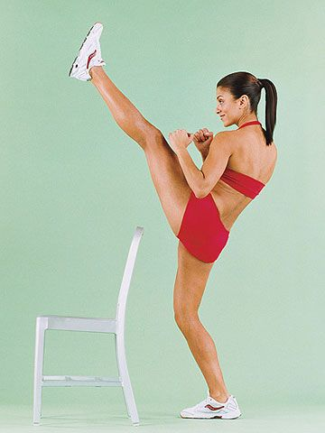 These moves demand focus and balance, engaging your core as well as your thighs.