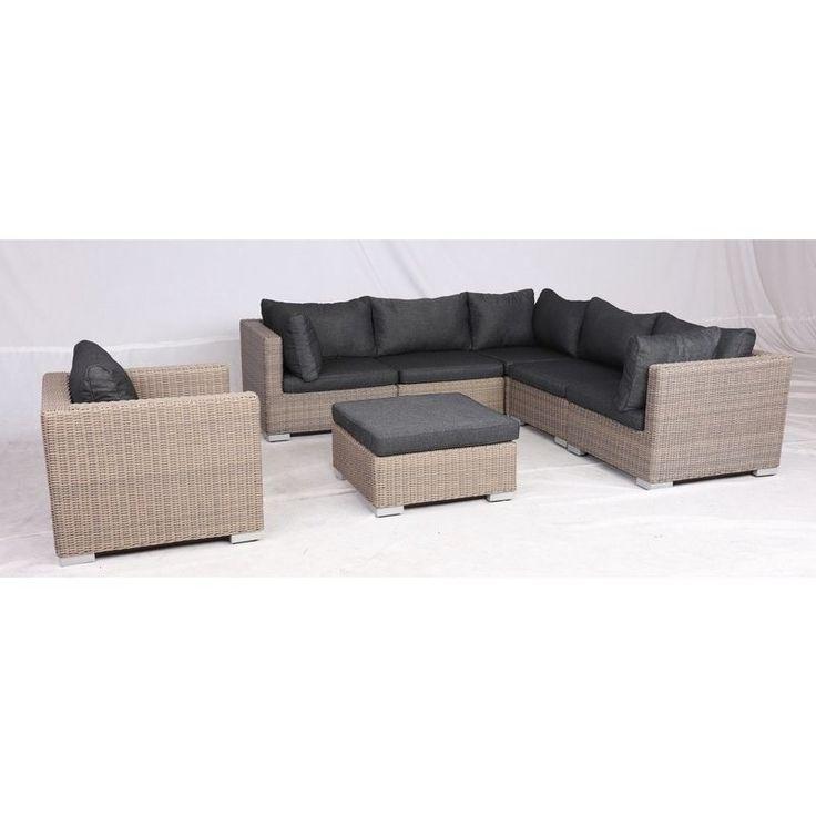 Apollo Outdoor 7 Piece Wicker Lounge Set in Brown   Buy Wicker Outdoor Furniture